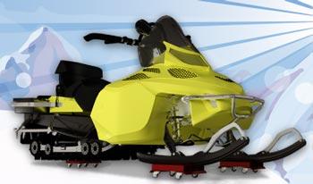 Тележка СОРОКИН для транспортировки снегохода