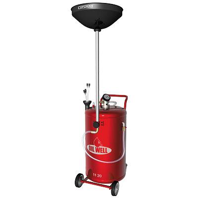 Маслосборная установка пневматическая 90 литров с комплектом зондов и сливной воронкой СОРОКИН