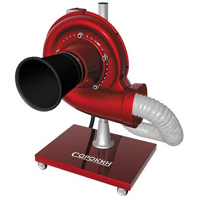 Мобильное устройство для вытяжки отработавших газов 0,55кВт, шланг 102ммх4м СОРОКИН