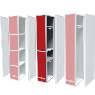 Металлический шкаф одёжный двухсекционный  СОРОКИН
