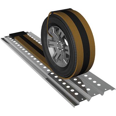 Сэнд-трак стальной с антипробуксовочной лентой 1000х400мм, 2,5т