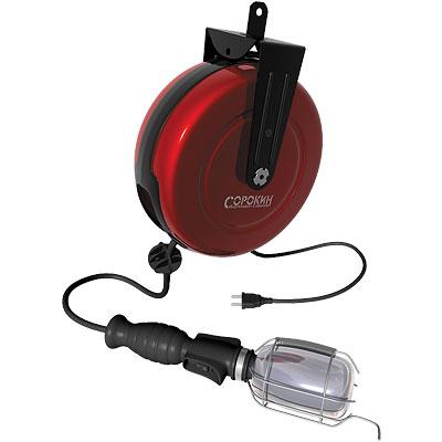 Лампа-переноска на катушке, 220В, 10м