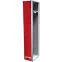 Металлический шкаф одёжный односекционный
