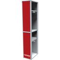 Металлический шкаф одёжный двухсекционный