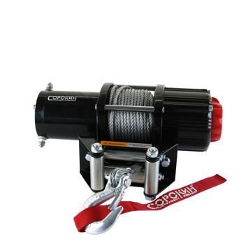 Электролебёдка 2т на ATV c кевларовым тросом