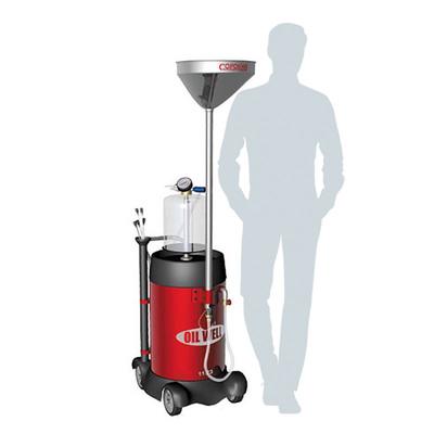 Маслосборная установка пневматическая 90 литров с предкамерой, комплектом зондов  и сливной воронкой