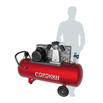 Компрессор поршневой 10атм, 3,0кВт, 380В, 580л/мин, горизонтальный ресивер 200л