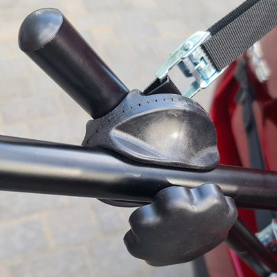 Багажник с хомутами для трех велосипедов