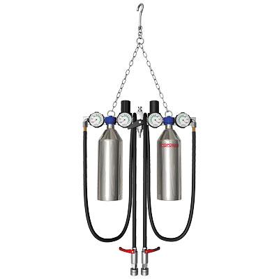 Установка для промывки инжектора с двумя резервуарами 600мл