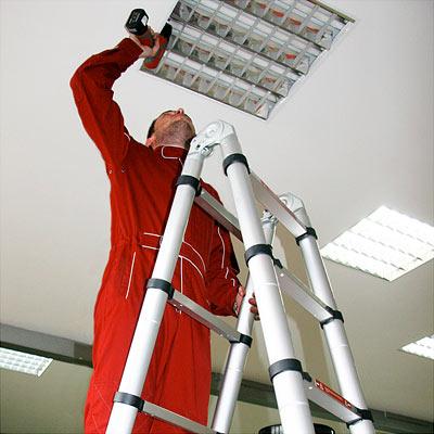 Лестница-стремянка телескопическая 4,4м