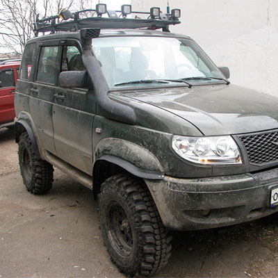 Шноркель для UAZ Patriot ЗМЗ-409.10 2,7L бензин