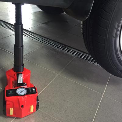 Домкрат электрогидравлический 3т, 12В, 155-450мм, с гайковертом в кейсе