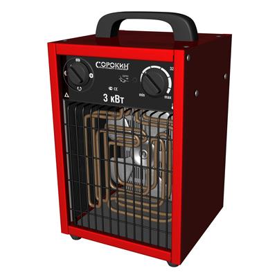 Нагреватель воздуха электрический 220В, 3,0 кВт, 300м3/ч