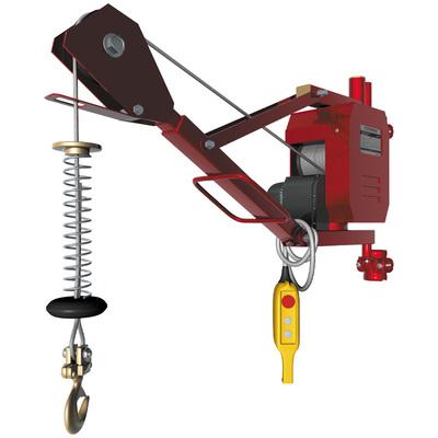 Кран-тельфер электрический с выдвижной стрелой 0,2т 30м