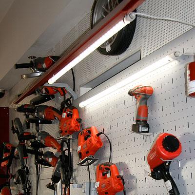 Светильник промышленный светодиодный 220В, 2х6Вт, шнур 5м