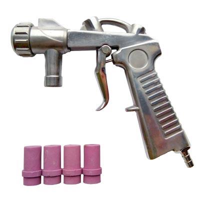 Пистолет для пескоструйных камер с комплектом форсунок 10.5, 10.8, диаметр 4,5,6,7мм