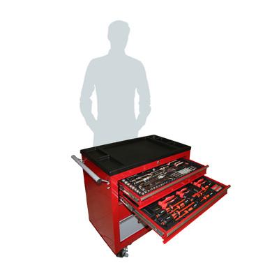 Тележка с инструментом, 145 предметов, 5 отделений