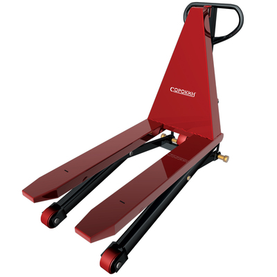 Тележка гидравлическая для поддонов с ножничным подъёмом 1,5т, 85-800мм