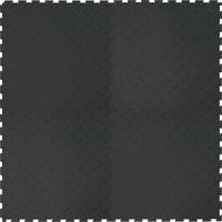 Напольное покрытие Риски, чёрное, 1м2